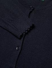 Lauren Ralph Lauren - Scalloped Cotton Cardigan - cardigans - lauren navy - 2