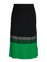Three-Tone Ribbed Skirt - POLO BLACK/MSCRPN