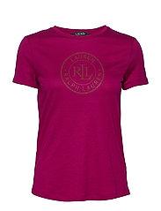 Logo Cotton Tee - BRIGHT FUCHSIA