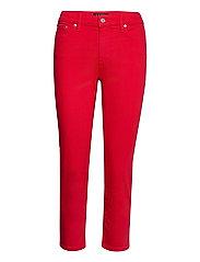 Premier Straight Crop Jean - BOLD RED WASH