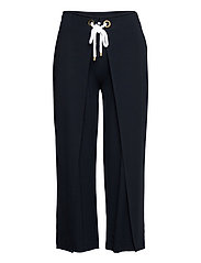 Stretch Wide-Leg Pant - LAUREN NAVY