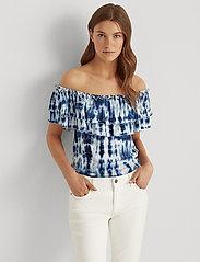 Lauren Ralph Lauren - Tie-Dye Off-the-Shoulder Top - blouses à manches courtes - blue multi - 0