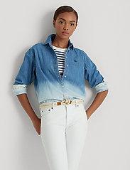 Lauren Ralph Lauren - Ombré Denim Shirt - jeansblouses - dipped indigo was - 0