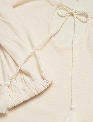 Lauren Ralph Lauren - Linen-Blend Blouson Top - langærmede bluser - mascarpone cream - 3