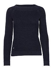 Ribbed Cotton Sweater - LAUREN NAVY