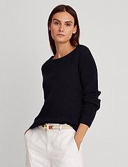 Lauren Ralph Lauren - Ribbed Cotton Sweater - trøjer - lauren navy - 0