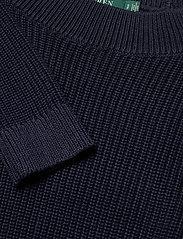 Lauren Ralph Lauren - Ribbed Cotton Sweater - trøjer - lauren navy - 3