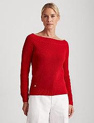 Lauren Ralph Lauren - Ribbed Cotton Sweater - trøjer - orient red - 0