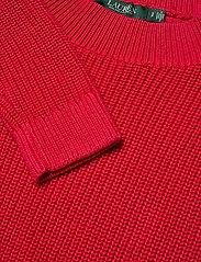 Lauren Ralph Lauren - Ribbed Cotton Sweater - trøjer - orient red - 3