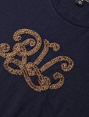 Lauren Ralph Lauren - UPTOWN COTTON MODAL-SSL-KNT - t-shirts - lauren navy - 3
