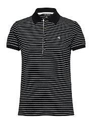 Striped Piqué Polo Shirt - POLO BLACK/WHITE
