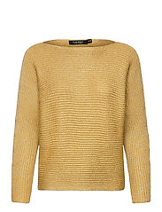 Dolman-Sleeve Boatneck Sweater - SHINY GOLD LUREX