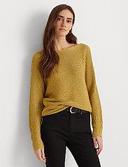 Lauren Ralph Lauren - Dolman-Sleeve Boatneck Sweater - trøjer - shiny gold lurex - 0