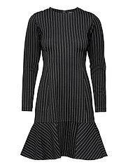 Pinstripe Ponte Dress - POLO BLACK/MASCAR