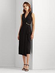 Lauren Ralph Lauren - Jersey Sleeveless Wrap Dress - aftenkjoler - polo black - 0