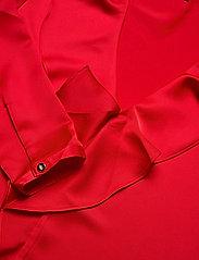 Lauren Ralph Lauren - Ruffle-Trim Sateen Top - langærmede bluser - lipstick red - 3