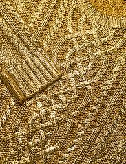 Lauren Ralph Lauren - Foiled Cable-Knit Sweater - trøjer - shiny gold - 3