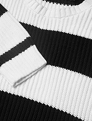 Lauren Ralph Lauren - Striped Button-Trim Cotton Sweater - trøjer - white/polo black - 3