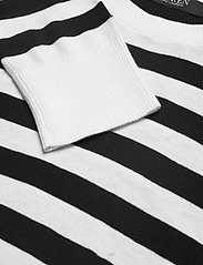 Lauren Ralph Lauren - Striped Cotton-Modal Sweater - trøjer - white/polo black - 3