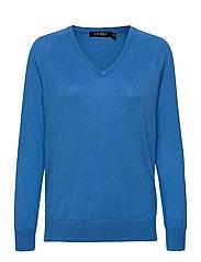 Modal-Silk V-Neck Sweater - CAPTAIN BLUE