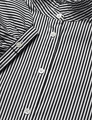 Lauren Ralph Lauren - Striped Bishop-Sleeve Cotton Shirt - langærmede bluser - black/white - 3