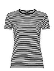 Striped Cotton-Blend T-Shirt - WHITE/POLO BLACK