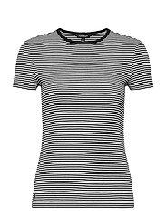 Striped Cotton-Blend T-Shirt - WHITE/POLO BLACK