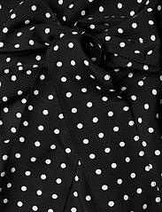 Lauren Ralph Lauren - Polka-Dot Bishop-Sleeve Crepe Dress - hverdagskjoler - polo black/white - 4