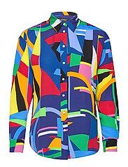 Print Crepe Shirt - POLO BLACK MULTI