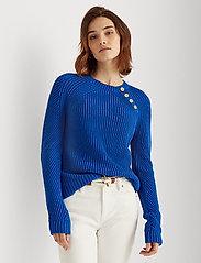 Lauren Ralph Lauren - Button-Trim Cotton Sweater - pulls - pacific royal - 0