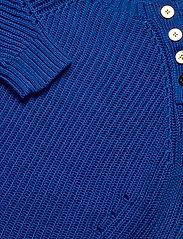 Lauren Ralph Lauren - Button-Trim Cotton Sweater - trøjer - pacific royal - 3