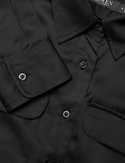 Lauren Ralph Lauren - Sateen Button-Down Shirtdress - skjortekjoler - polo black - 3
