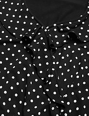 Lauren Ralph Lauren - Polka-Dot Jersey Peplum Top - blouses à manches longues - polo black/white - 3