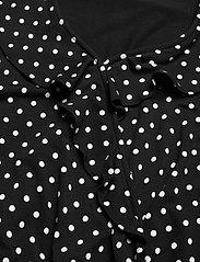 Lauren Ralph Lauren - Polka-Dot Jersey Peplum Top - langærmede bluser - polo black/white - 3