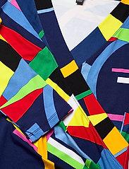 Lauren Ralph Lauren - Wrap-Style Jersey Top - blouses à manches longues - blue multi - 3