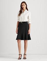 Lauren Ralph Lauren - Pinstripe Flounced Ponte Skirt - midinederdele - polo black/mascar - 0