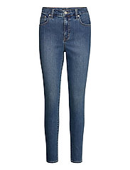 High-Rise Skinny Ankle Jean - OCEAN BLUE WASH
