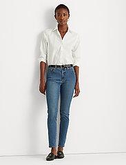 Lauren Ralph Lauren - High-Rise Skinny Ankle Jean - jeans skinny - ocean blue wash - 0