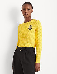 Lauren Ralph Lauren - Button-Trim Cable-Knit Sweater - pulls - athletic gold - 0