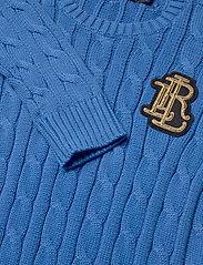 Lauren Ralph Lauren - Button-Trim Cable-Knit Sweater - trøjer - captain blue - 3