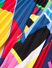 Lauren Ralph Lauren - Print Pleated Crepe Skirt - midinederdele - polo black multi - 3
