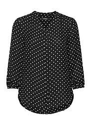 Polka-Dot Georgette Top - POLO BLACK/WHITE