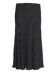 Polka-Dot Georgette Peasant Skirt - POLO BLACK/WHITE