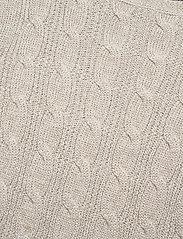 Lauren Ralph Lauren - Cable-Knit Boatneck Cotton Sweater - trøjer - silver - 2