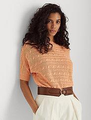 Lauren Ralph Lauren - Linen Cable-Knit Sweater - trøjer - shell coral - 0