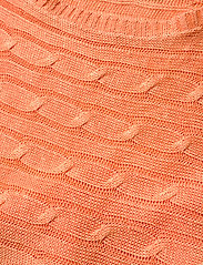 Lauren Ralph Lauren - Linen Cable-Knit Sweater - trøjer - shell coral - 3