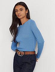 Lauren Ralph Lauren - Cable-Knit Crewneck Sweater - trøjer - cabana blue - 0