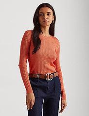 Lauren Ralph Lauren - Cable-Knit Crewneck Sweater - trøjer - coral quartz - 0