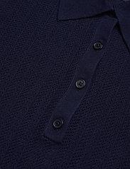 Lauren Ralph Lauren - Rib-Knit Collared Shirt - poloskjorter - french navy - 3