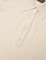 Lauren Ralph Lauren - Rib-Knit Collared Shirt - polos - mascarpone cream - 3